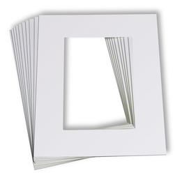 Beveled Edge White Mats pkg of 10