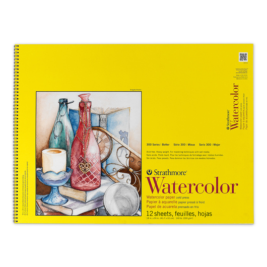 Strathmore® 300 Series Watercolor Pad - 18 in. x 24 in. - 12 Sheets - 140 lb.