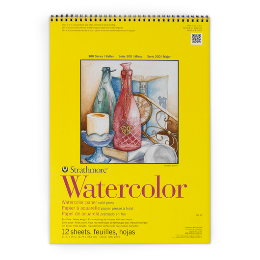 Strathmore® 300 Series Watercolor Pad - 11 in. x 15 in. - 12 Sheets - 140 lb.