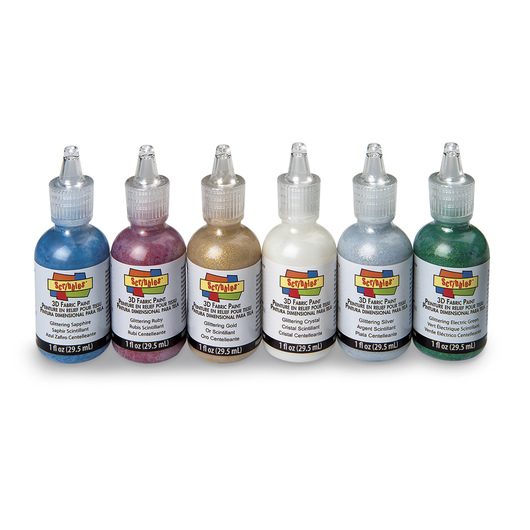Scribbles® Dimensional Fabric Paint Set - Pack of 6 - Glittering