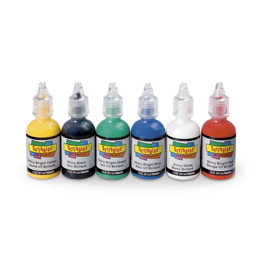 Scribbles® Dimensional Fabric Paint Set - Pack of 6 - Shiny