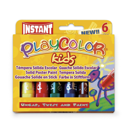 Jack Richeson® PlayColor® Tempera Sticks - Standard Size - Standard Colors - Pkg. of 6