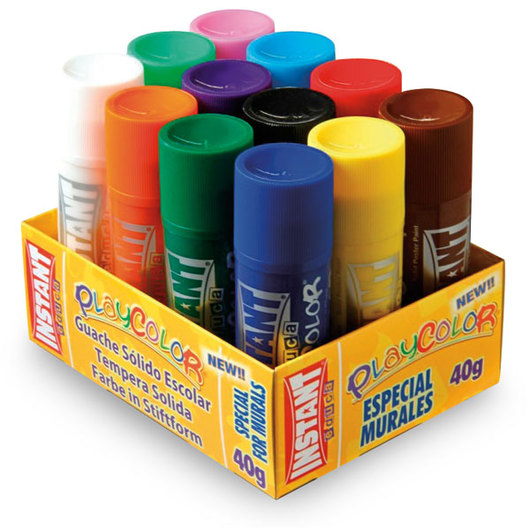 Jack Richeson® PlayColor® Tempera Sticks - Mural Size Standard Colors - Pkg. of 12