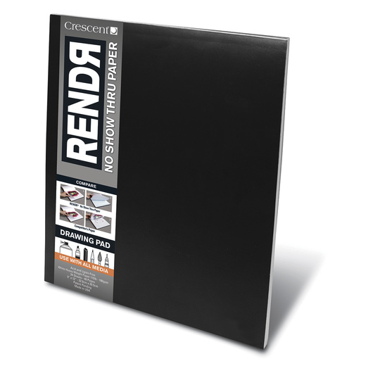 RENDR™ No Show Thru Paper - Sketch Pad - 9 in. x 12 in.