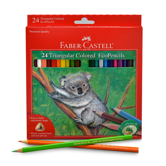 Faber-Castell® Triangular Colored EcoPencils - Set of 24