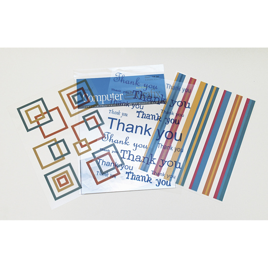 Grafix® Clear Inkjet Computer Film with Adhesive Backing - Pkg. of 6