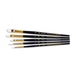 Set No. 3 - Princeton RealValue™ White Taklon Short Handle - 5 Brushes