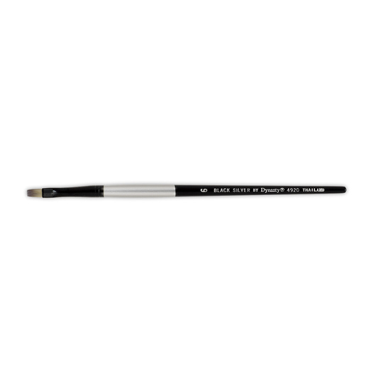 Black Silver by Dynasty® Synthetic Brush - Bright Size 6
