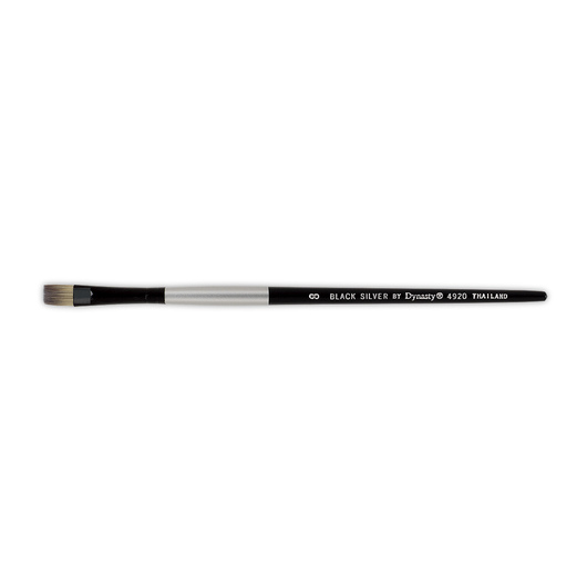 Black Silver by Dynasty® Synthetic Brush - Bright Size 8