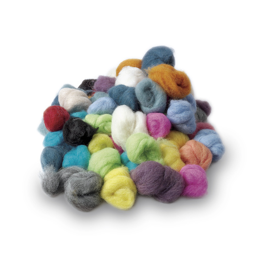PacaFluff Wool Roving 8 oz. (60 balls) - Multicolored