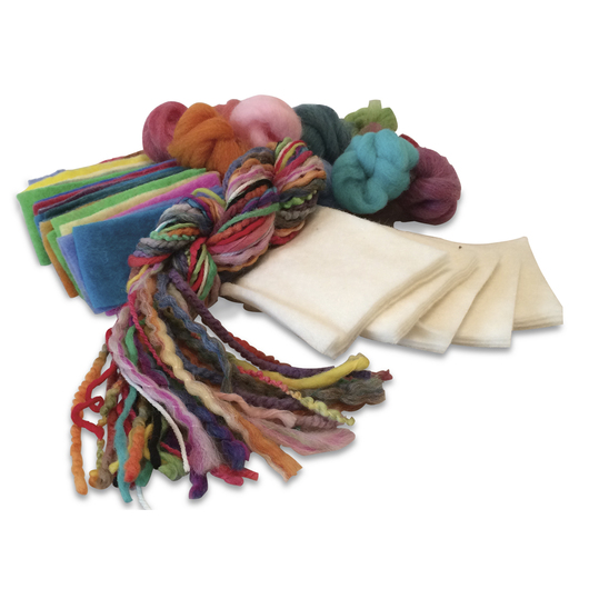 Felting Materials Club Kit with 4 in. x 6 in. Mini canvas