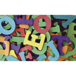 Pacon Colorful Wood Letters
