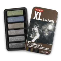 Derwent XL Graphite Blocks - Set of 6 - 2-3/8 in. x 3/4 in.