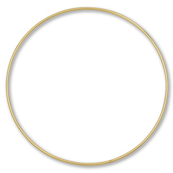Metal Ring for Macrame - 10 in. Single