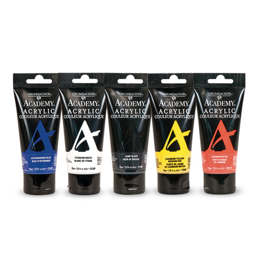 Grumbacher® Academy® Acrylics 5-Color Basic Set