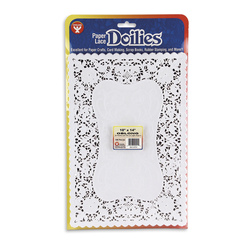 10 in. x 14 in. Oblong Paper Lace Doilies - Pack of 100