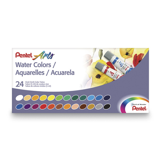 Pentel Arts® Water Colors - 5 ml - Set of 24