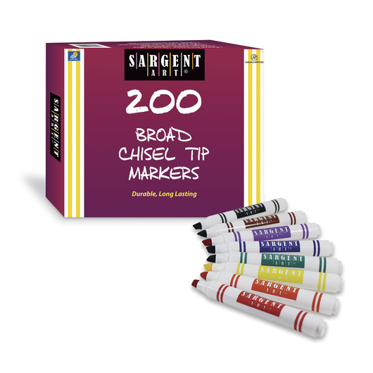 Sargent Art® Classic Chisel Tip Markers - Set of 200