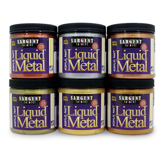 Sargent Art® Liquid Metals® 8 oz. Jars - Set of 6
