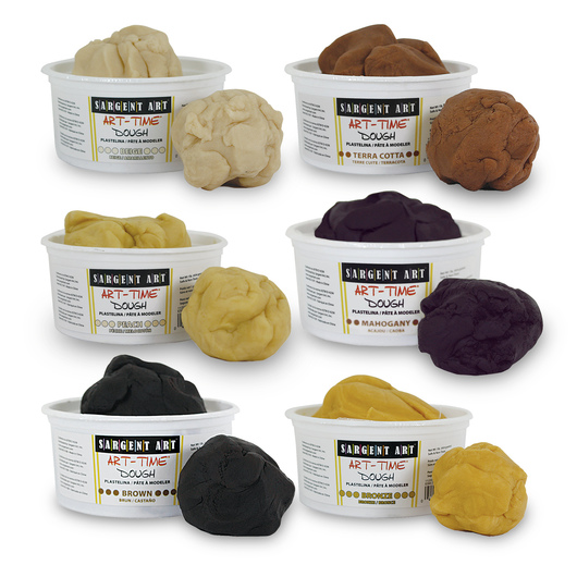 Sargent Art® Art-Time Dough - Multicultural Set of Six 1-lb. Tubs