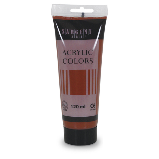 Sargent Art® Acrylic Paint Tube - 4.1 oz. (120 ml) - Burnt Sienna