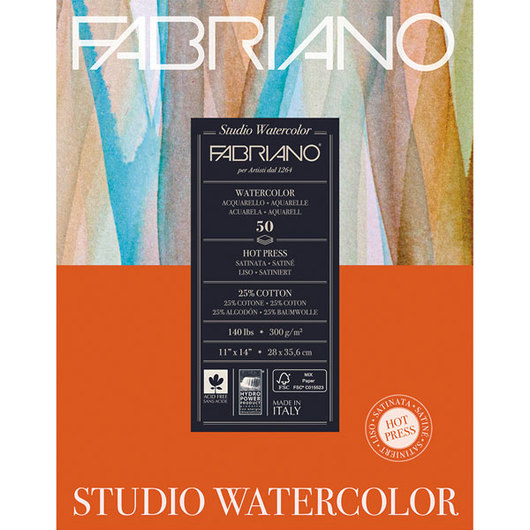 Fabriano® Studio Watercolor Paper - 11 in. x 14 in.