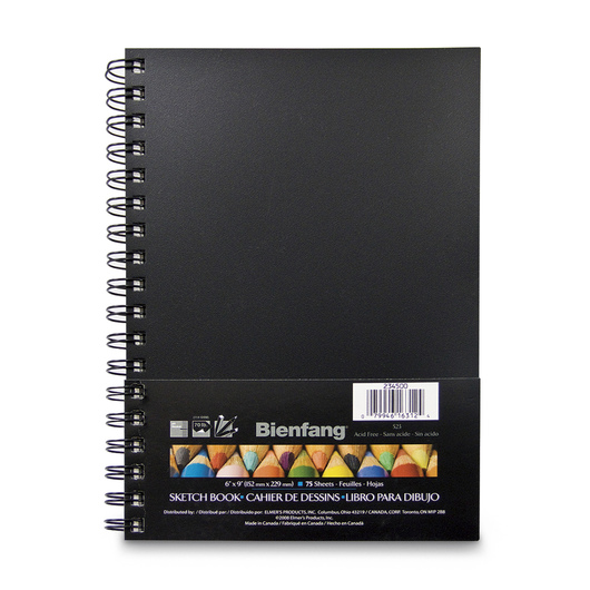 Bienfang® Hardcover Sketchbooks - 75 Sheets - 6 in. x 9 in. - 70 lb.