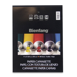 Bienfang® #710 Canvasette Paper - 10 - 9 in. x 12 in. Sheets