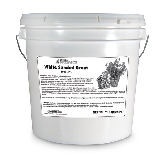 Mosaics White Grout - 25-lb. Bucket