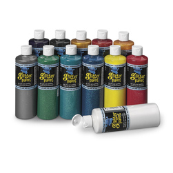 Chroma® Washable Glitter Paints - Set of 12 Pints