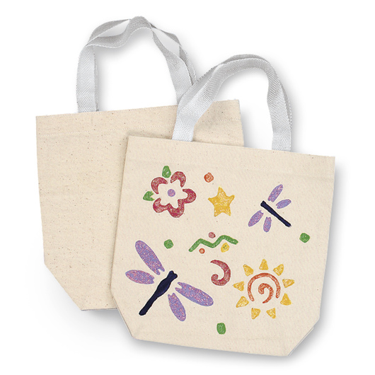 Natural Canvas Tote Bags - Pkg. of 12