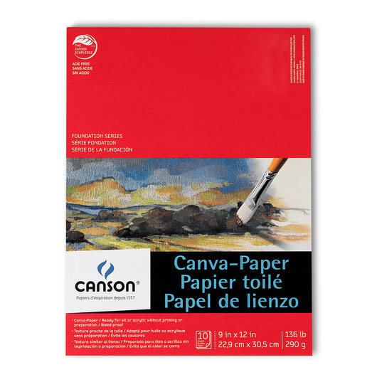Canson® Canva-Paper™ - 10-Sheet Pad - 9 in. x 12 in.