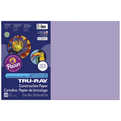 Tru-Ray® Fade-Resistant Construction Paper - 1,250 Sheets - 12 in. x 18 in. - 76 lb. - Lilac