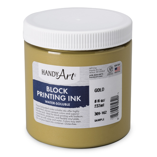 Handy Art Water-Soluble Block Ink - Gold - 8-oz. Jar