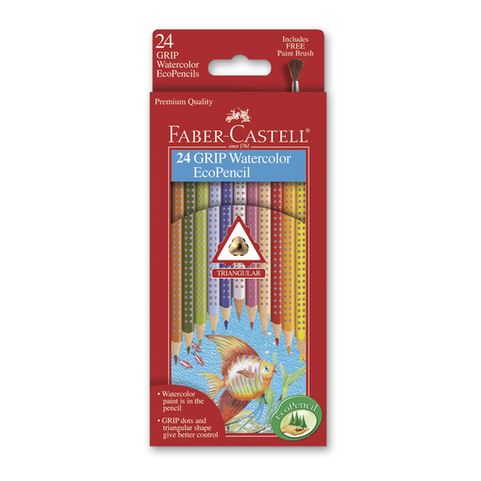 Faber-Castell® Color Grip Watercolor EcoPencils - Set of 24