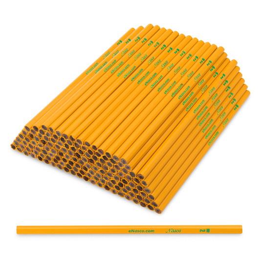 Nasco No. 2 Unsharpened Pencils Without Eraser - Pkg. of 144