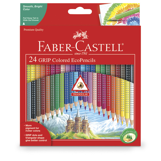 Faber-Castell® Color Grip Colored EcoPencils - Set of 24