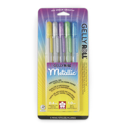 Sakura® Metallic™ Gelly Roll® Gel Ink Pens - Set of 5