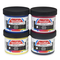 Speedball® Permanent Acrylic Screen Printing Ink - Set of 4 - 4 oz.