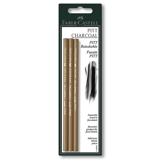 Faber-Castell® PITT® Compressed Charcoal Pencils - Set of 3