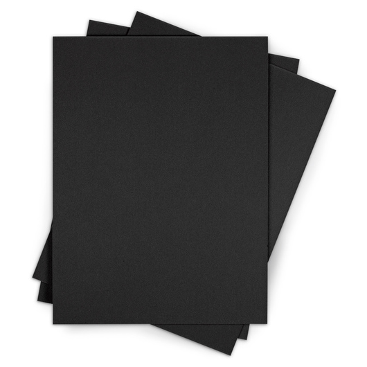 Crescent® No. 8 Ultra-Black™ Mounting Boards - School Pack - 40 - 5 in. x 7 in. Sheets