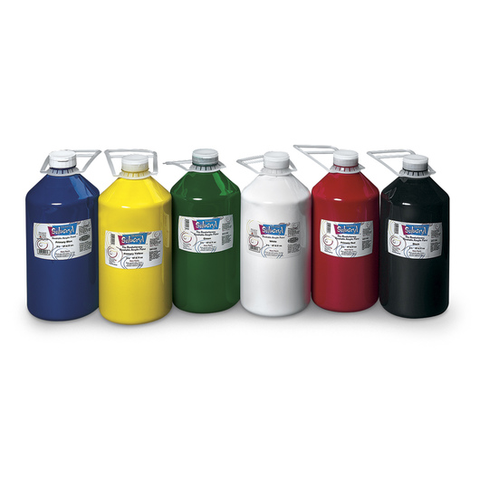 Solucryl Resoluble Acrylic Paint - Set of 6 - 2 L (67.6 oz.) Bottle
