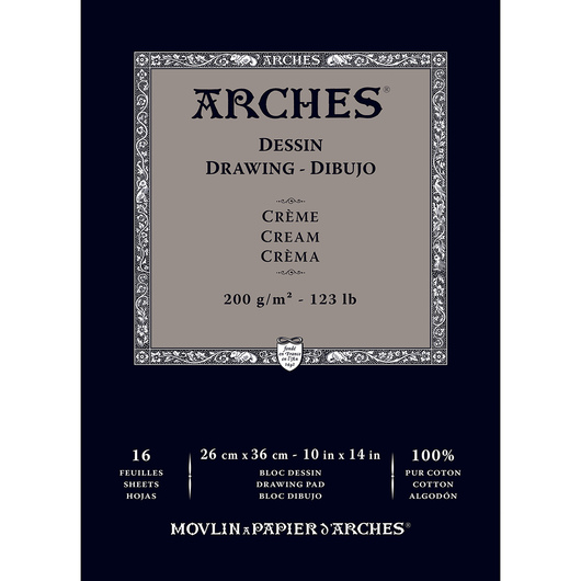 ARCHES® Drawing Pad - Cream - 10 in. x 14 in.