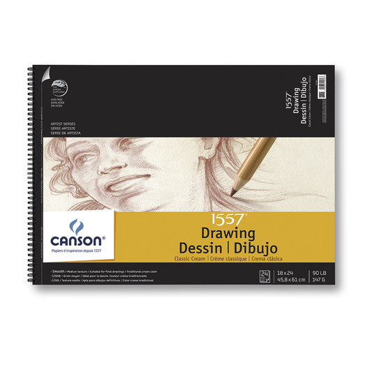Canson® Artist Series Classic Cream Drawing Pad - 18 in. x 24 in.