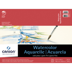 Canson® Student Lightweight Watercolor Pad - 15 in. x 20 in. - 15 Sheets - 90 lb.
