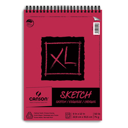 Canson® XL® Sketch Pads - 9 in. x 12 in. - 100 Sheets - Top Wire - 50 lb.