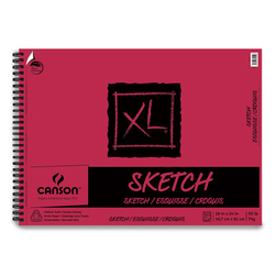 Canson® XL® Sketch Pads - 18 in. x 24 in. - 50 Sheets - Side Wire - 50 lb.