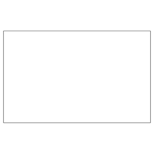 Crescent® Select Conservation Solids Mat 4-Ply Board - 10 in. x 16 in. - Vivid White