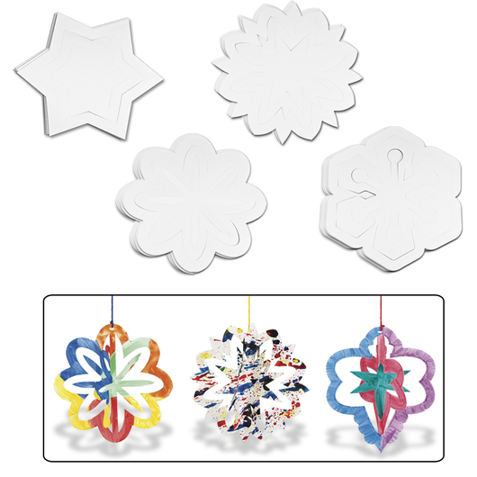 Roylco® 3-D Ornaments - Set of 30 - 8 in. x 8 in.