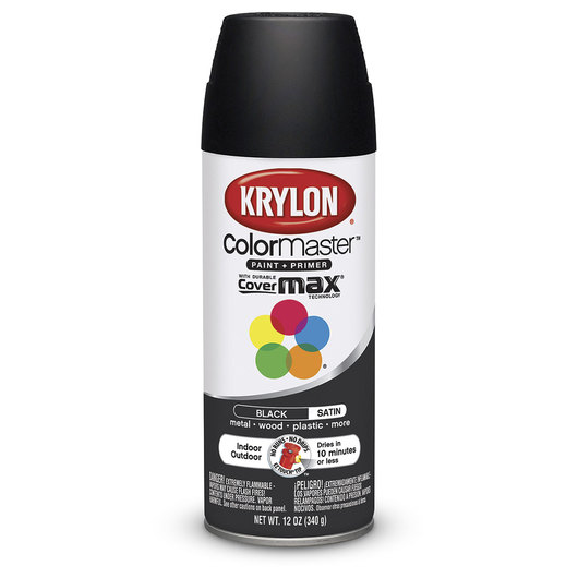 Krylon® Indoor/Outdoor Paint - 12 oz. - Satin Black